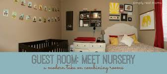 Guest Bedroom And Office - combining a modern nursery with a guest room