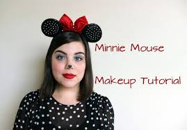 easy halloween makeup tutorial inspired by minnie mouse youtube