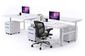 Adjustable Height Computer Desk Workstation by 4 Person Sit Stand Workstation Electric Height Adjustable