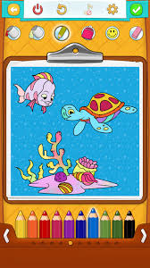 fish coloring pages free android iphone ipad app for kids