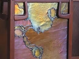Art Glass Sconces Custom Stained Glass Greene U0026 Greene Wall Sconce By Hamm Glass