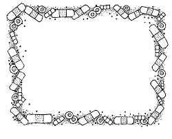 black and white halloween border free halloween clipart black and