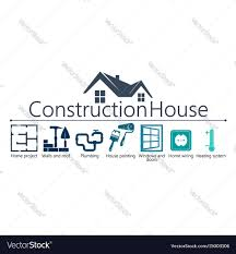 House Plumbing System House Construction Symbol Royalty Free Vector Image