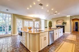 kitchen with big windows interior house plan