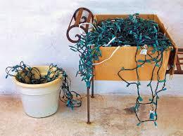 tangled christmas lights stock photo image 9293790