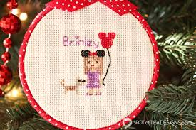 cross stitch portrait hoop ornaments spot of tea designs