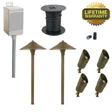 low voltage led landscape lighting kits landscape lighting kits low voltage outdoor path light sets