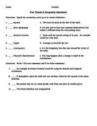 themes of geography worksheet free worksheets library download