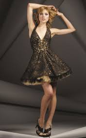 black and gold dress jovani 158422 black gold halter sparkle tulle party dress size