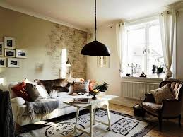 living room vintage shabby chic decor with distressed wall and