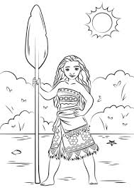 princess moana portrait coloring free printable coloring