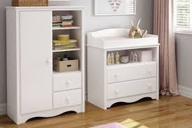 Changing Table Shelves by South Shore Heavenly Changing Table And Armoire With Drawers