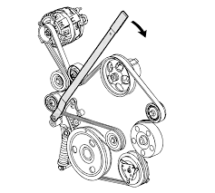 repair instructions on vehicle drive belt replacement