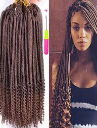 crochet braid hair 20inch fauxlocs crochet braid hair curly ends synthetic braiding