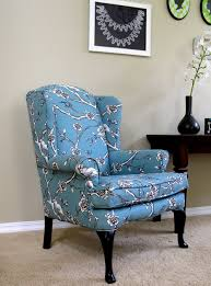 Queen Anne Living Room Design Furniture Queen Anne Wingback Chair In Gray With Brown Rim And