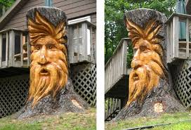 awesome wood stump carvings sculptures 28 michael bradley time