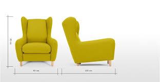 Wingback Armchair Uk Rubens Wing Back Armchair Kelp Green Wool Mix Made Com