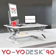 Schreibtisch Schwenkbare Tischplatte Homcom Sitz Steh Computertisch Schreibtisch Erhöhung Tischaufsatz