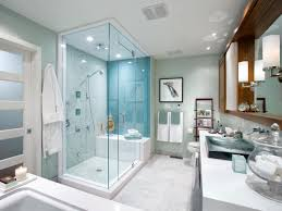 Finished Bathroom Ideas White Porcelain Soaking Bathtub White Polished Simple Master