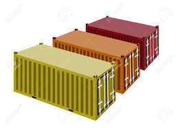 red yellow and orange cargo containers freight containers or