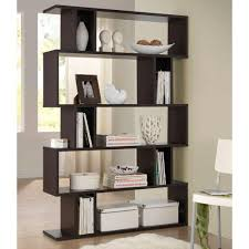 baxton studio goodwin dark brown wood 5 tier open shelf 28862 5054