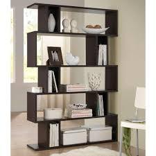 Modern Furniture Shelves by Baxton Studio Goodwin Dark Brown Wood 5 Tier Open Shelf 28862 5054