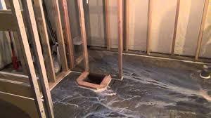 Subfloor Basement Basement Bathroom Floor Leveling Adhesive Application Youtube