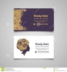 beauty salon luxury business card design template with beautiful