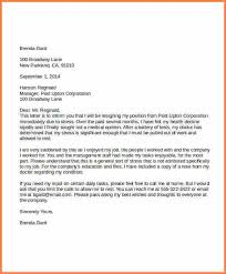 5 resignation letter due to stress resign letter job