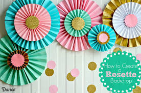 how to make paper rosettes diy decorations the cards we drew