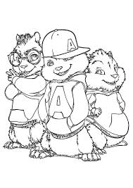 coloring pages fancy alvin chipmunks coloring pages