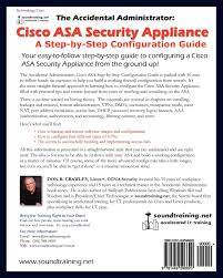 the accidental administrator cisco asa security appliance a step