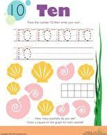 number writing worksheet 6 math worksheets preschool