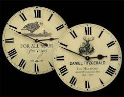 Personalized Anniversary Clock Beautiful Personalized Clocks For Special Occasions John Borin