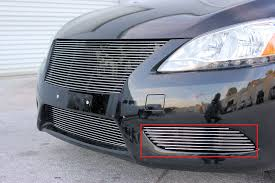custom nissan sentra 1994 2014 nissan sentra 1pc center bumper billet grille kit