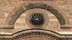 xiv century orthodox church lazarica in krusevac serbia ornament