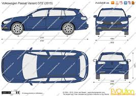 volkswagen variant 2015 the blueprints com vector drawing volkswagen passat variant gte