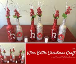 wine bottle christmas ideas through the yellow door wine bottle christmas craft