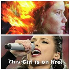 This Girl Is On Fire Meme - fire girl meme