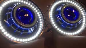jeep wrangler blue headlights hidprojectors 7 jeep wrangler headlight retrofit with led