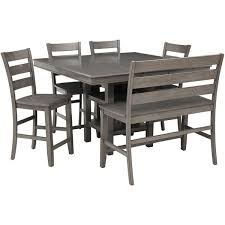 Patio Furniture Counter Height Table Sets Earl Grey 6 Counter Height Dining Set Lifestyle Furniture
