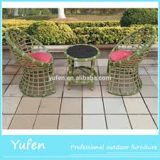 modern rattan living room furniture design tea table and chair set