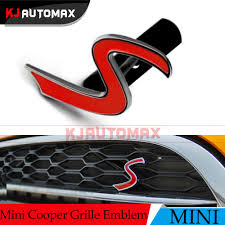 logo mini cooper s logo car front grille emblem badge for mini cooper s exterior
