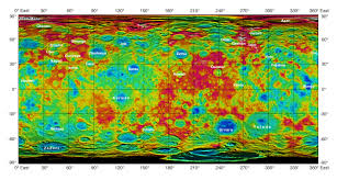 Us Map Topography Space Images Topographic Ceres Map With Feature Names Ii