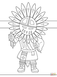 kachina doll coloring page free printable coloring pages