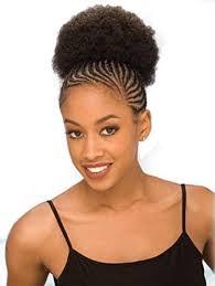 afro puff pocket bun hairstyles amazon com afro 5 shake n go freetress drawstring ponytail 1b