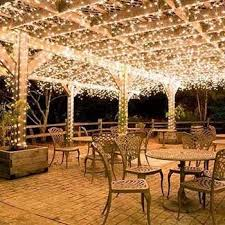 solar deck string lights solar powered led fairy lights 55 ft solar extensions and outlets