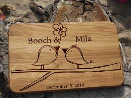 personalized gift for her wedding cutting board engagement