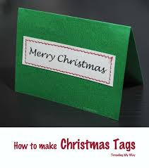 threading my way handmade christmas tags sew your own with paper