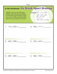 addition and subtraction worksheets 3rd grade 3rd grade addition worksheets apart strategy